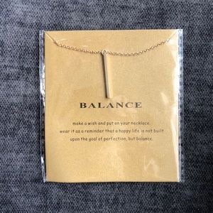 Balance 14k gold dipped necklace